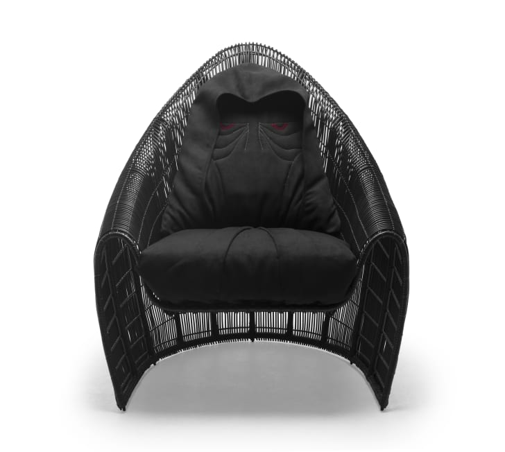 Darth Sidious chair inspired by Star Wars.