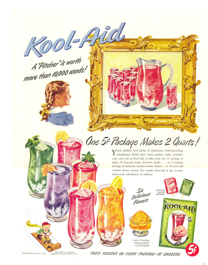 vintage Kool-Aid ad from 1950