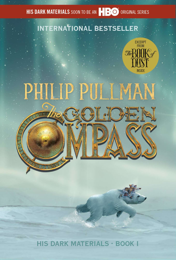 The cover of Philip Pullman's book 'The Golden Compass.'