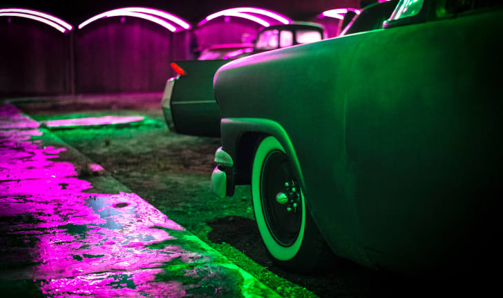 Generic photo of a car at a drive-in theater