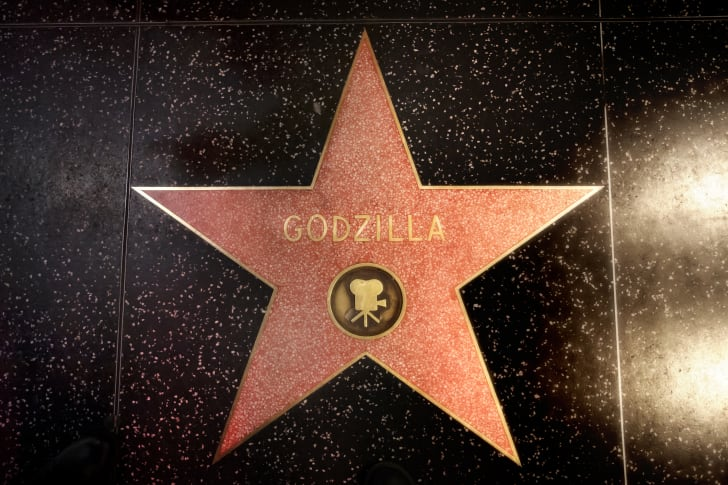 Godzilla's star on the Hollywood Walk of Fame