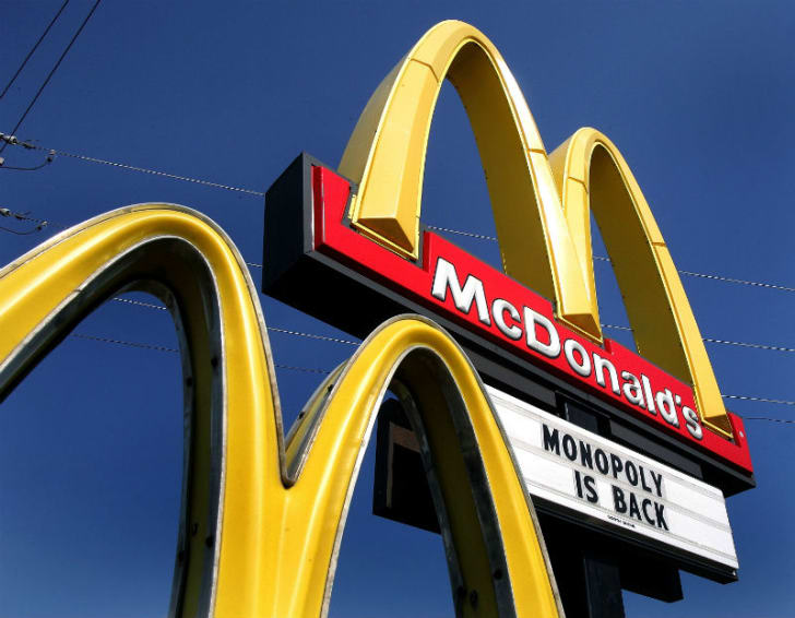 A McDonald's sign is pictured