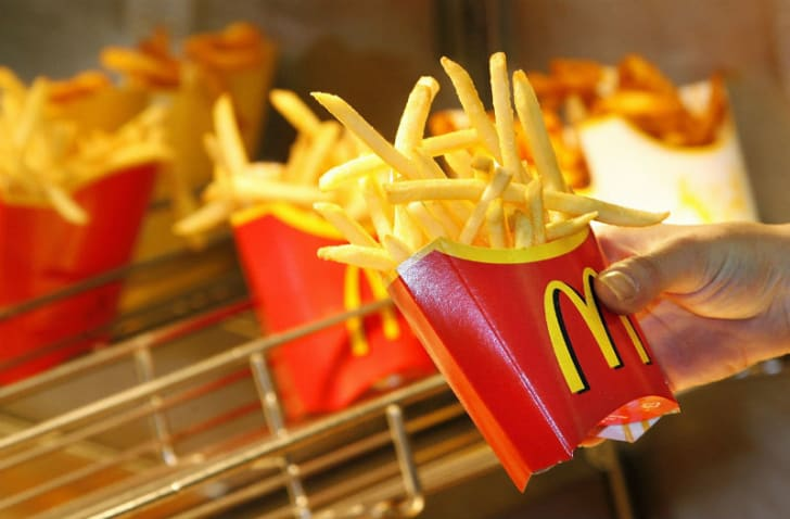 A serving of McDonald's French fries is pictured