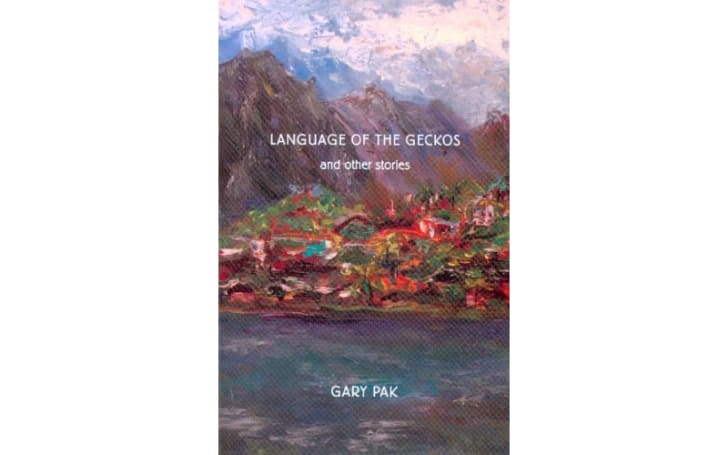 The cover of 'Language of the Geckos' by Gary Pak