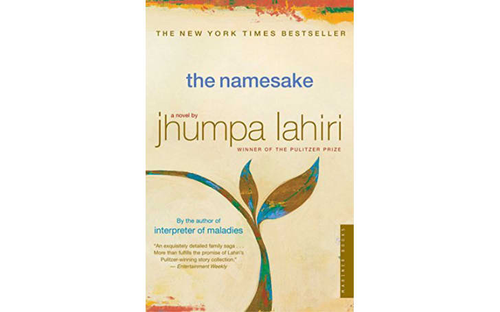 The cover of 'The Namesake' by Jhumpa Lahiri