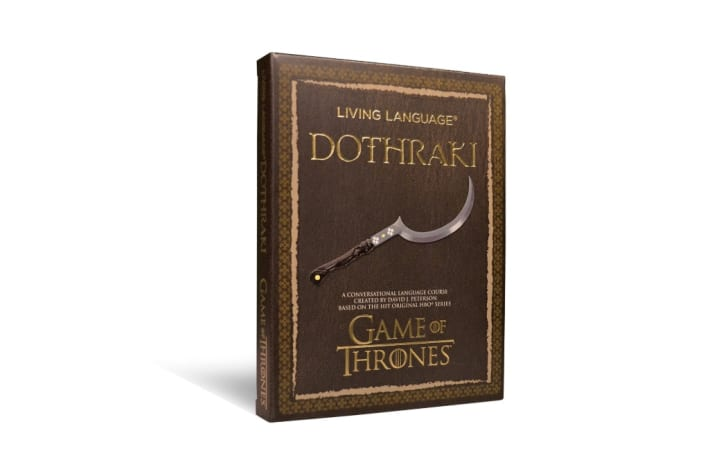 A copy of the Living Language Dothraki language course