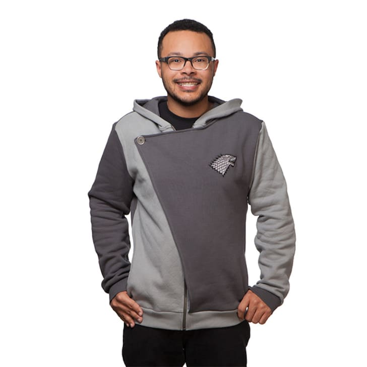 A Game of Thrones-themed 'House Stark' hoodie from ThinkGeek