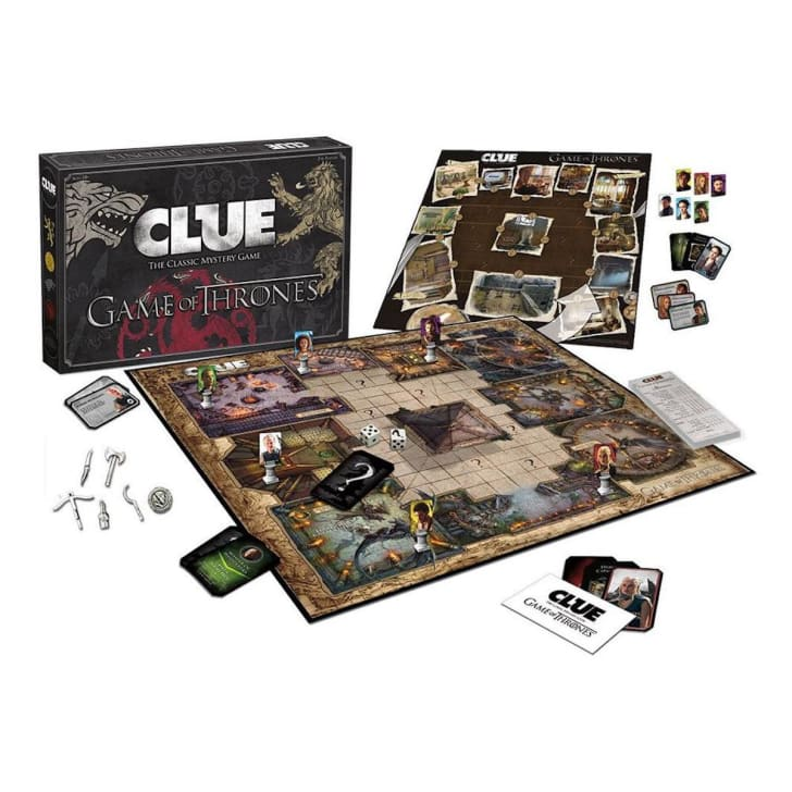 The 'Clue: Game of Thrones' board game laid out