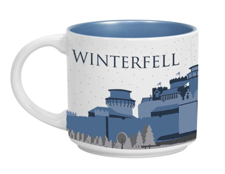 A 'Game of Thrones'-inspired Winterfell coffee mug