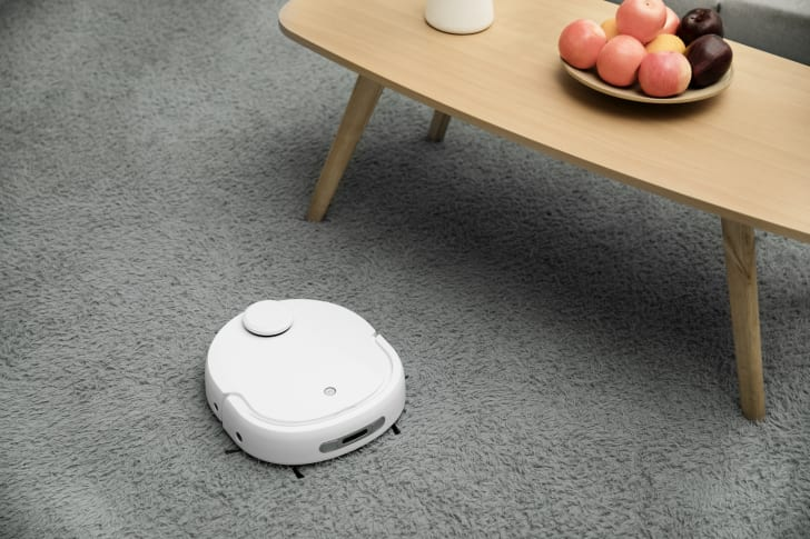 Self-cleaning robot vacuum and mop.