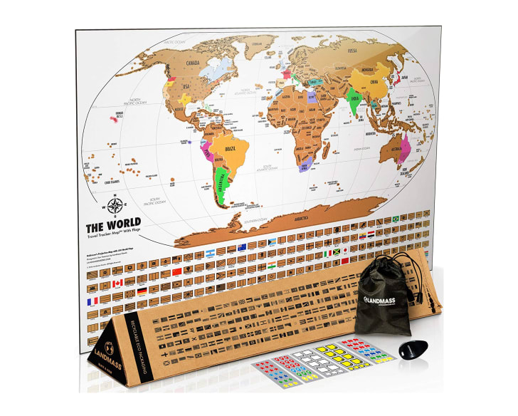 A scratch-off map of the world