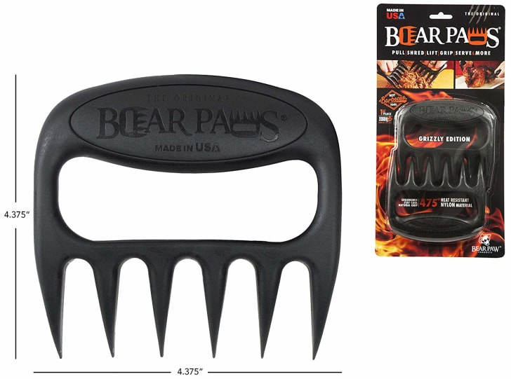 A meat shredder shaped like a bear's paw