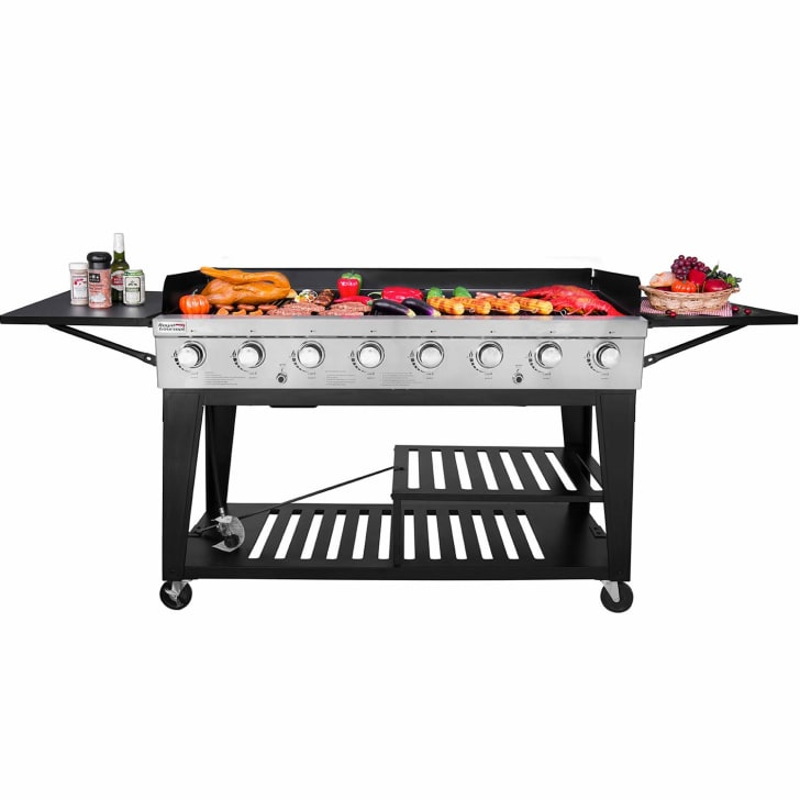 A Royal Gourmet eight-burner grill