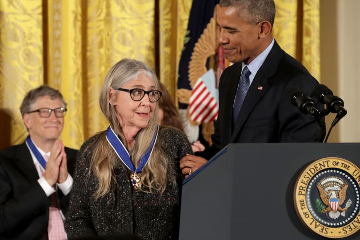 U.S. President Barack Obama awards the Presidential Medal of Freedom to NASA mathematician and computer software pioneer Margaret Hamilton during a ceremony in the East Room of the White House November 22, 2016