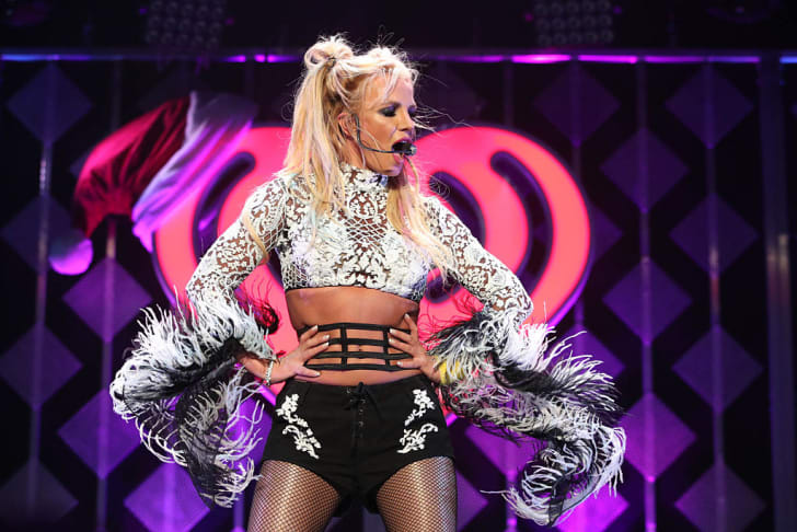 Britney Spears performs at the 102.7 KIIS FM's Jingle Ball 2016