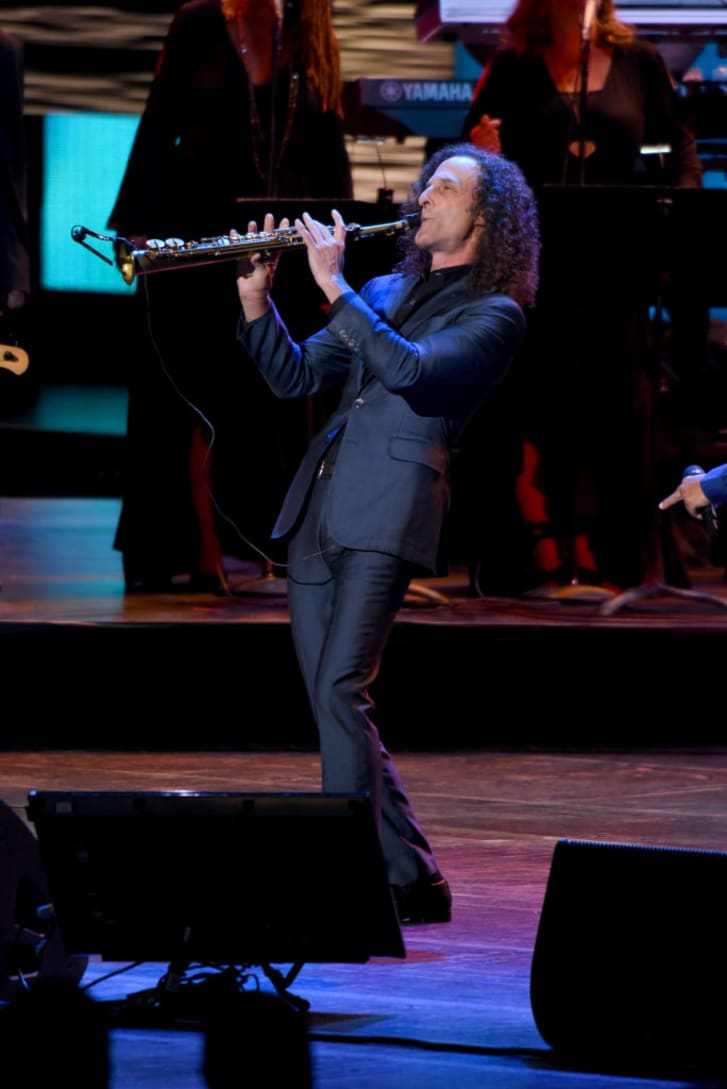 "Kenny G performs onstage during the ""Clive Davis: The Soundtrack of Our Lives"" Premiere Concert during the 2017 Tribeca Film Festival at Radio City Music Hall"