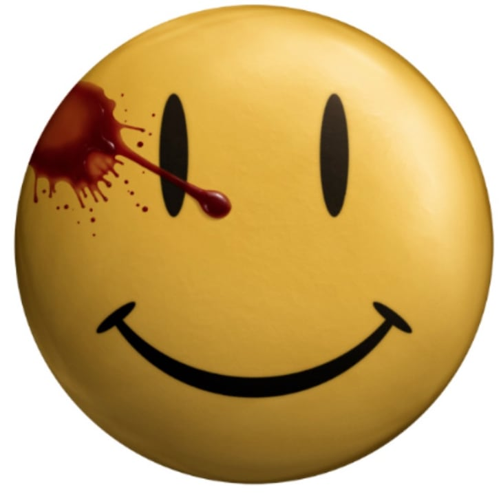 The Comedian's button as seen in Zack Snyder's 'Watchmen' (2009).