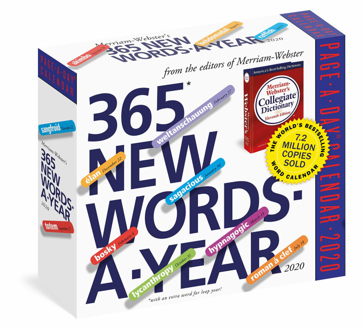 merriam-webster word a day calendar