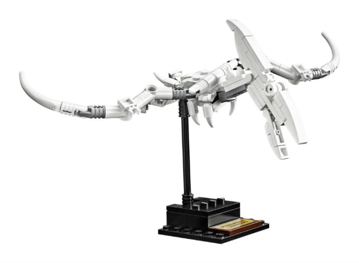 A LEGO Ideas Dinosaur Fossils 'Pteranodon' is pictured