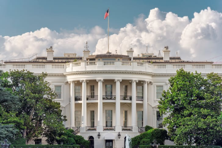 The White House in Washington DC - official residence of the President of the United States of America.