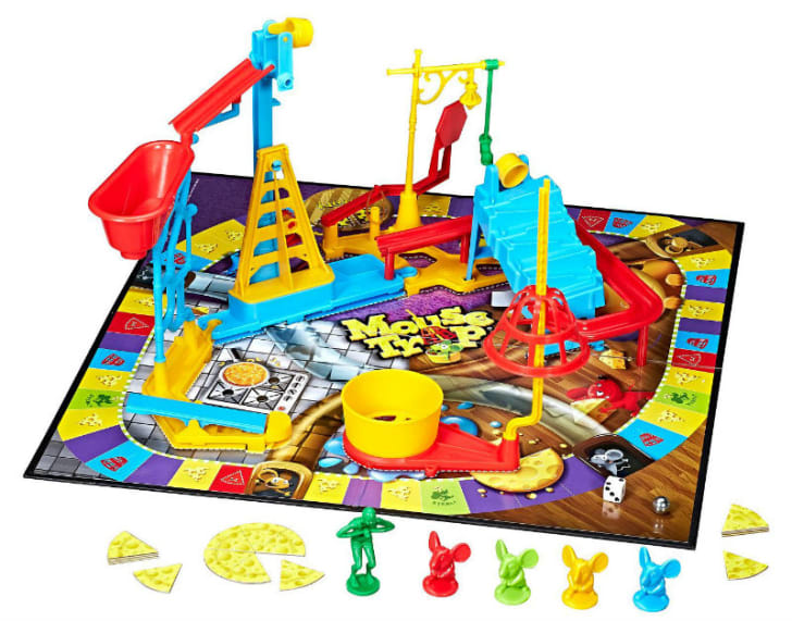 The 'Mouse Trap' board game is pictured