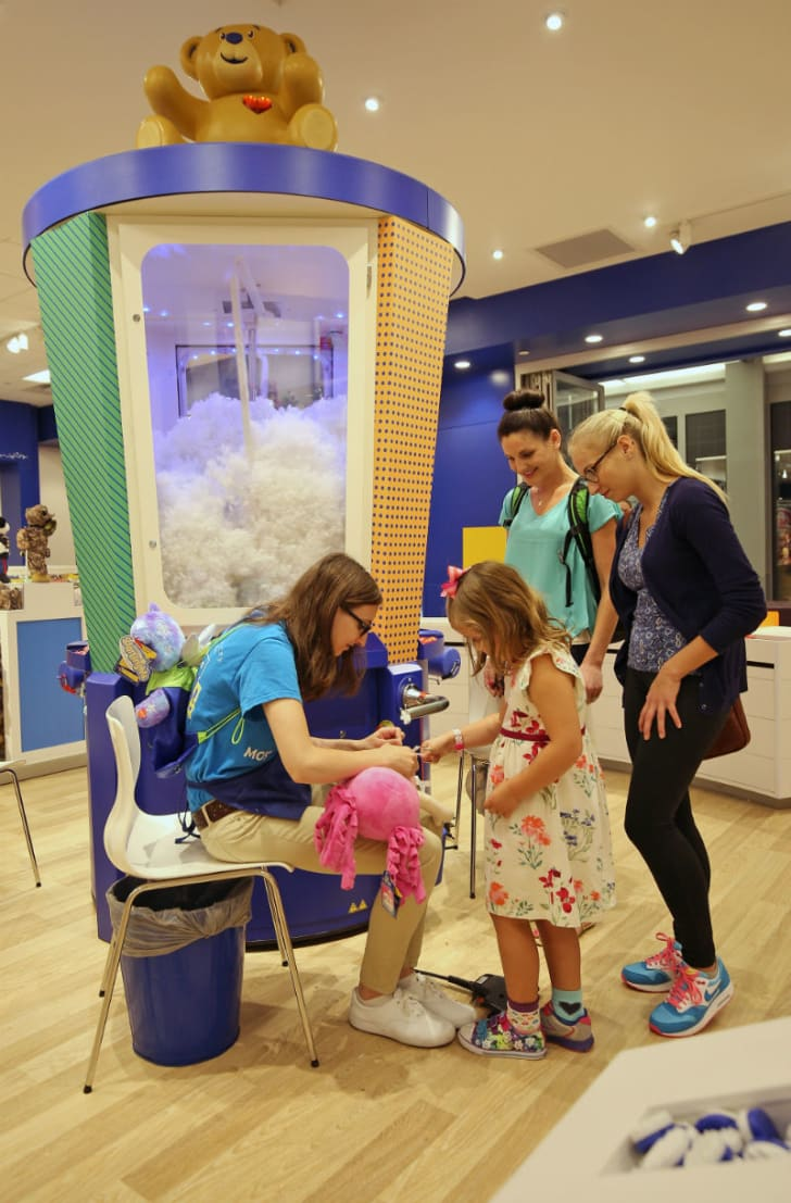 The Stuffer at the Build-A-Bear Workshop at the Mall of America in Bloomington, Minnesota is pictured in September 2015