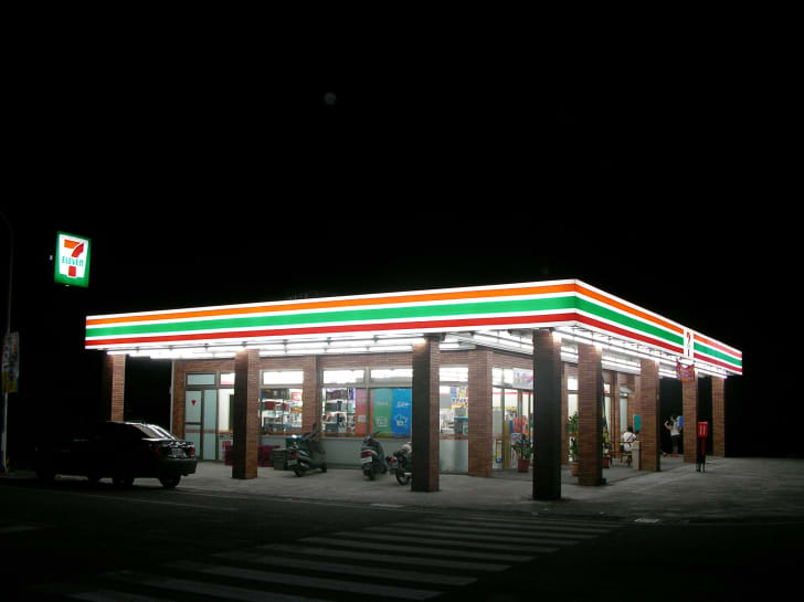7-Eleven storefront at night