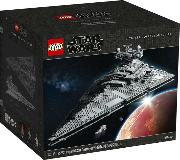 The LEGO Star Wars Star Destroyer box is pictured