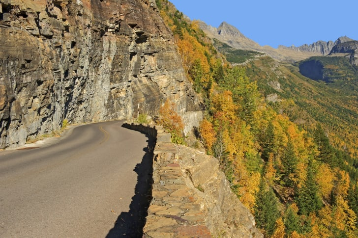 Going to the Sun Road fall foliage in Glacier National Park