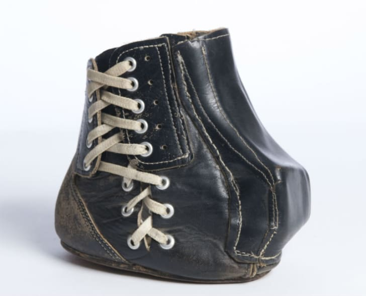 Tom Dempsey's modified football shoe is pictured