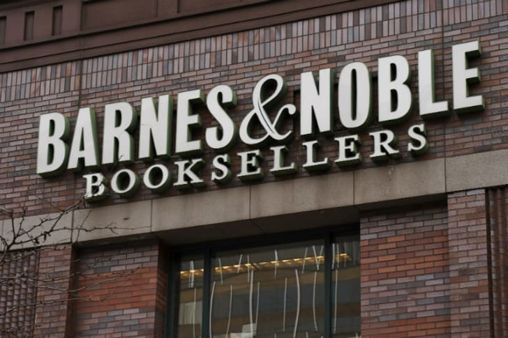 The exterior of a Barnes & Noble store in New York City is pictured in January 2019