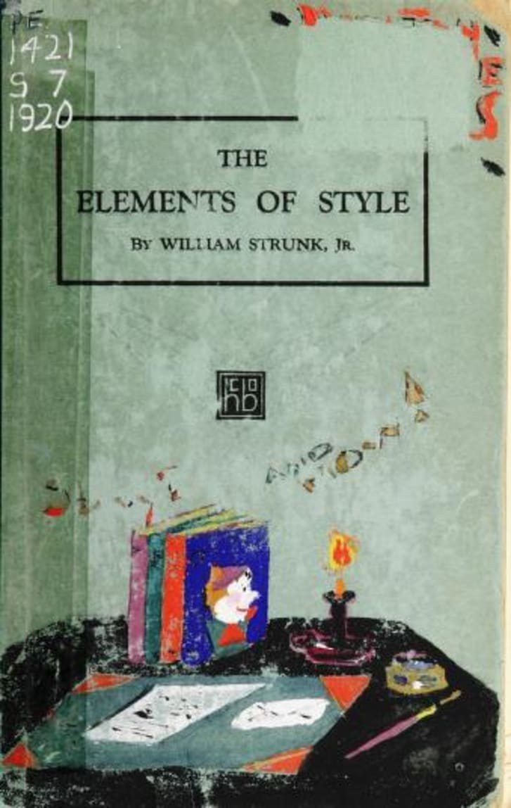 The Elements of Style 1920 edition