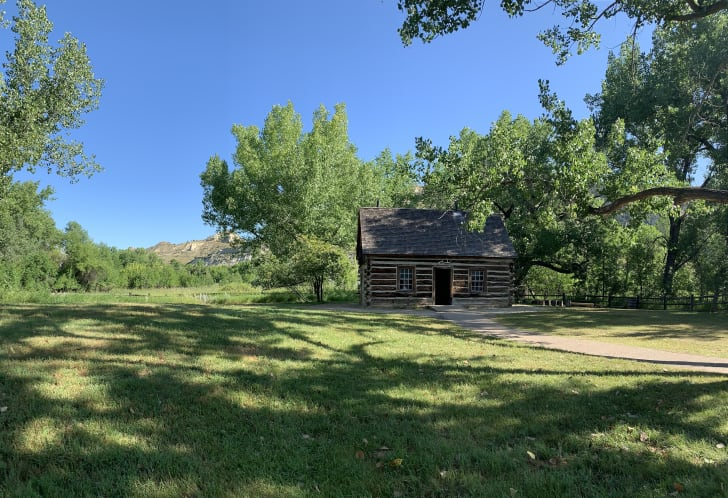 Theodore Roosevelt's Maltese Cross Ranch Cabin in Theodore Roosevelt National Park.