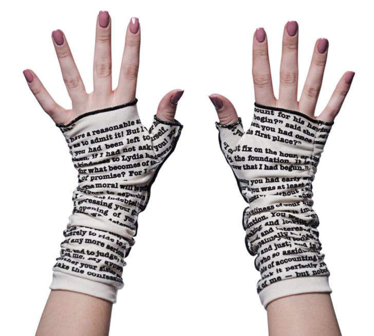 Storiarts' Pride and Prejudice writing gloves
