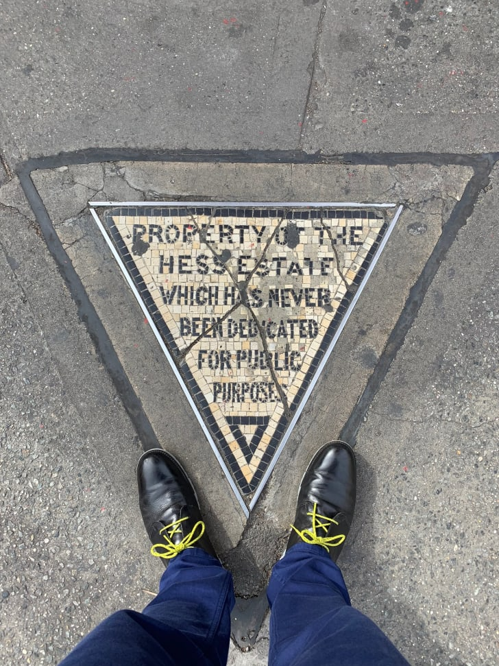 The Hess Triangle in NYC