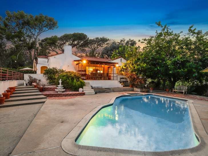 The backyard of the LaBianca house in L.A.