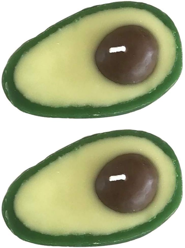 Two avocado candles