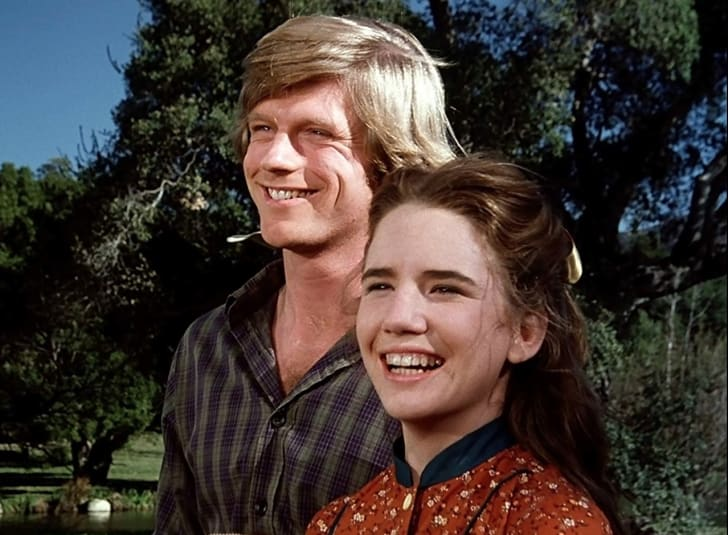 Melissa Gilbert and Dean Butler in Little House on the Prairie