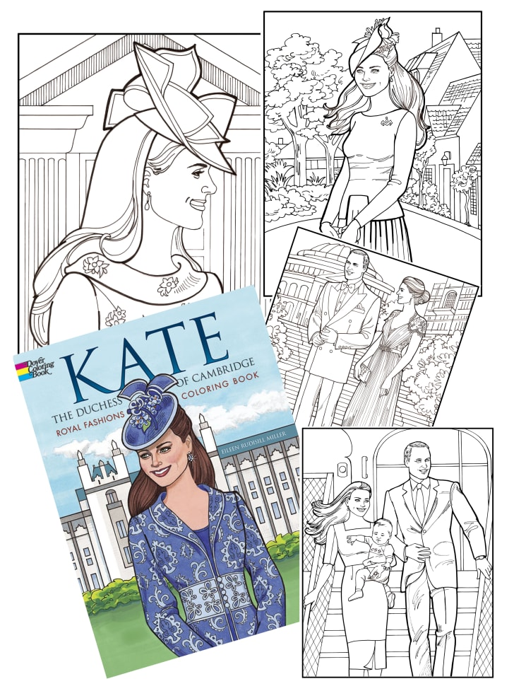 kate middleton fashion coloring book