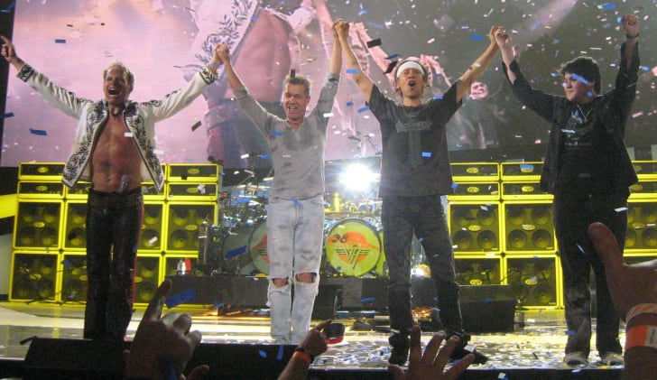 Van Halen performing in 2008