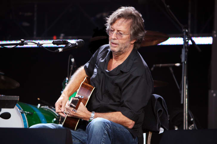 The legendary Eric Clapton playing live at the Hard Rock Calling concert on June 28, 2008 in Hyde Park, London
