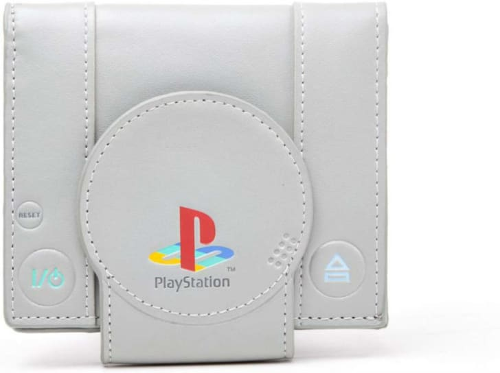 A Playstation wallet is pictured