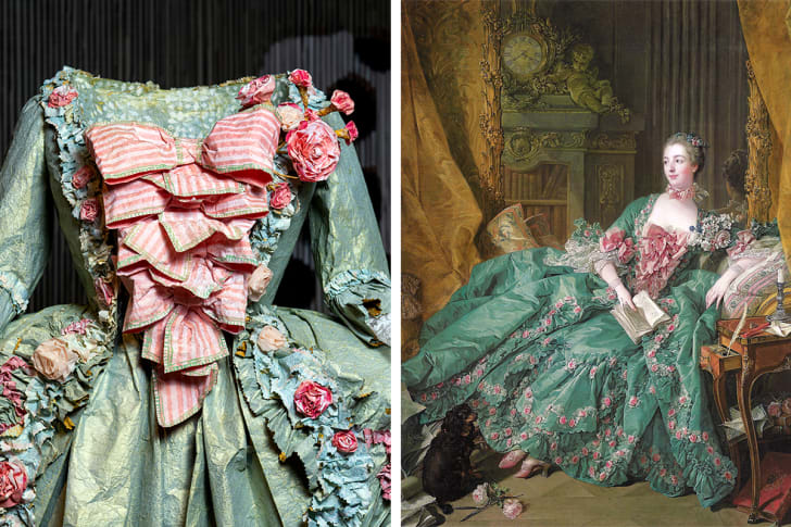 portrait of madame de pompadour with isabelle de borchgrave's paper replica