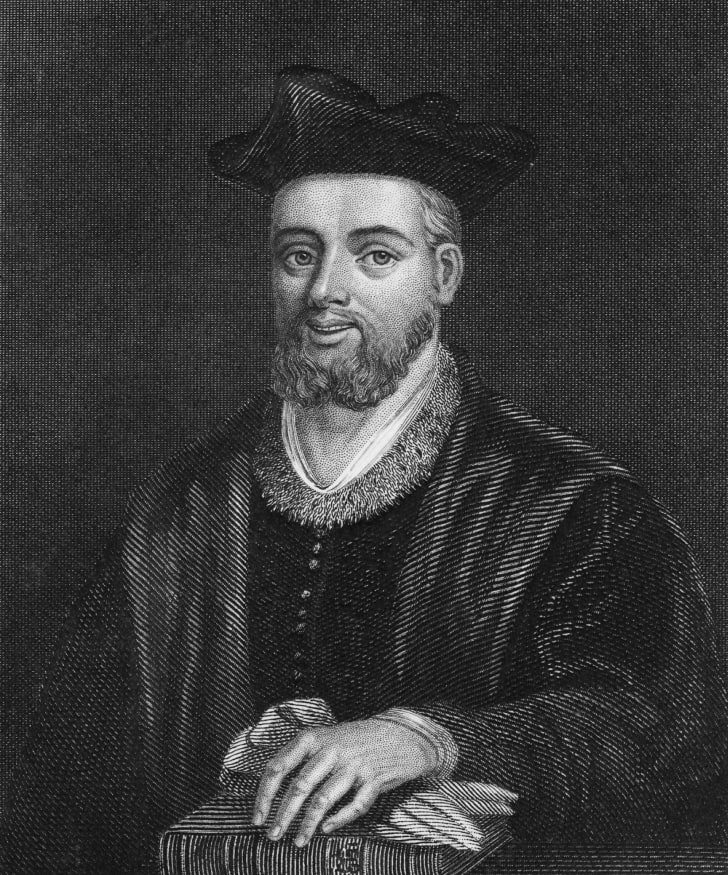 French Renaissance writer and satirist Francois Rabelais, (c.1494 - 1553), circa 1530. An engraving by Hinchliff after Mariette.