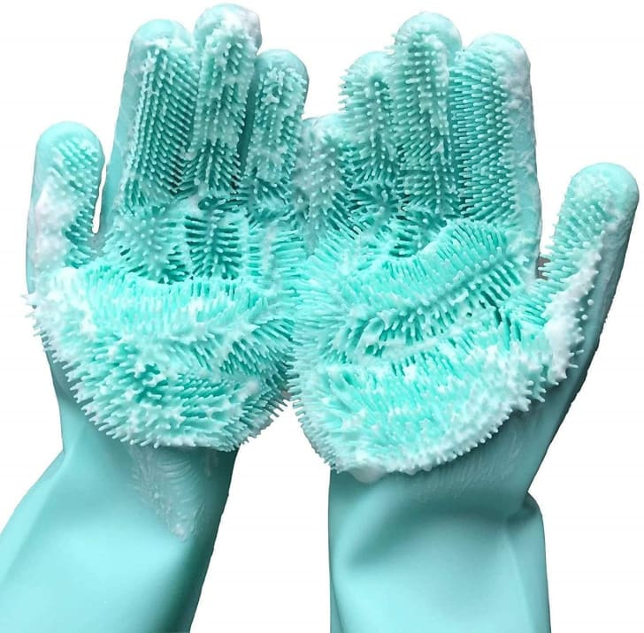 Scrub gloves you can use to clean your house.