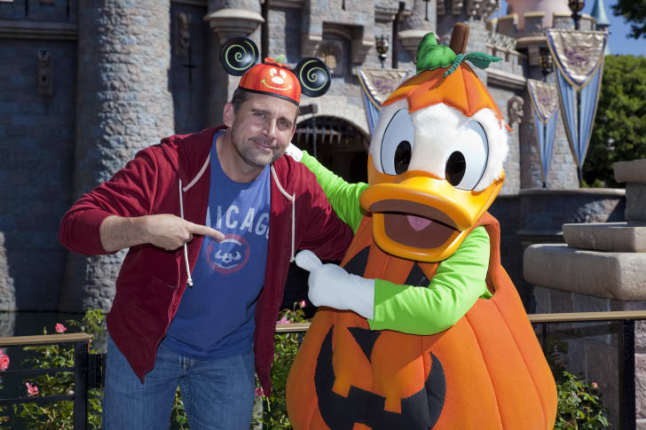 Steve Carrell and Donald Duck.