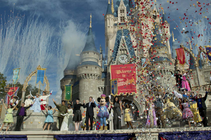 An image of the opening of Fantasyland.