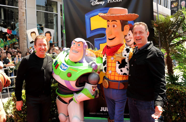 Tim Allen and Tom Hanks at the Toy Story 3 premiere.