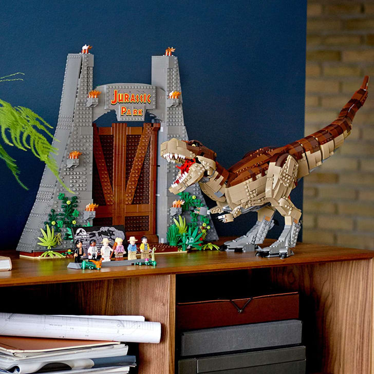 A LEGO Jurassic Park set on Amazon.