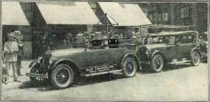 The 'American Wonder' radio-controlled car is pictured in 1925.